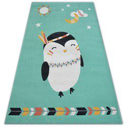 Teppich PASTEL 18401/043 - Pinguin Grün
