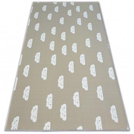 Antirutsch Teppich Teppichboden für Kinder CLOUDS beige