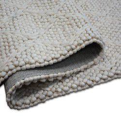 Teppich Hills Wolle 93520 Elfenbein