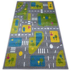 Teppich PAINT - G4798 Straßen grau/sahne