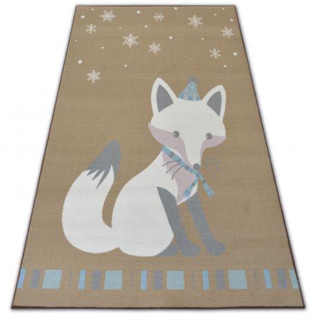 Teppich für Kinder LOKO Fuchs beige Antirutsch