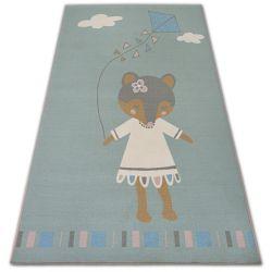 Teppich für Kinder LOKO Maus grün Antirutsch