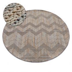 Teppich NATURE Kreis SL100 beige SIZAL BOHO