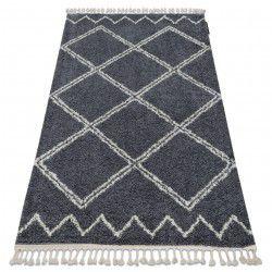 Teppich BERBER ASILA B5970 grau / weiß Franse berber marokkanisch