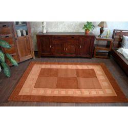 Teppich HAND TUFTED - BOXES terrakotta