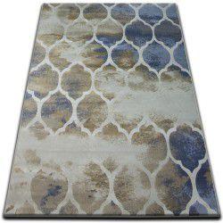 Teppich DROP JASMINE 761 Dunkelbeige/Hell blau