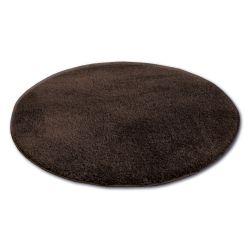 Teppich Kreis SHAGGY MICRO braun