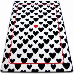 Teppich SKETCH - F755 weiß/schwarz - Herzen