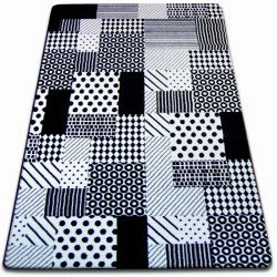 Teppich SKETCH - F760 weiß/schwarz - kariert