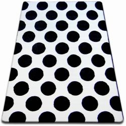 Teppich SKETCH - F761 weiß/schwarz - Kreis